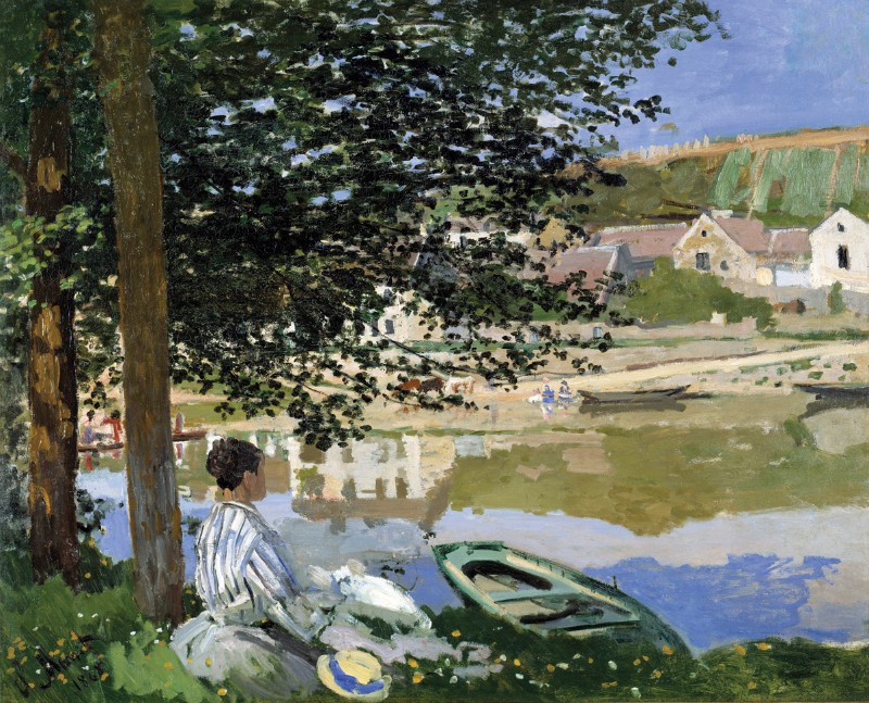 Claude Monet, canvas; On the Bank of the Seine, Bennecourt