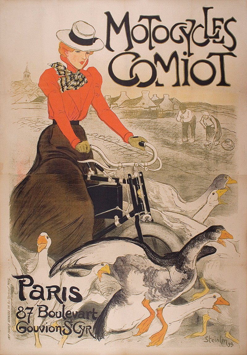 Théophile-Alexandre Steinlen, Motocycles Comiot, 1899;