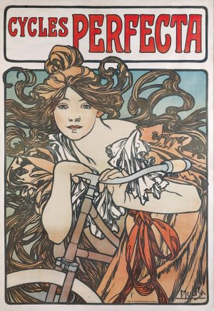 Alphonse Mucha, Cycles Perfecta, 1902.