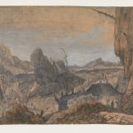 Hercules Segers, Rocky Landscape with a Man Walking to the Right