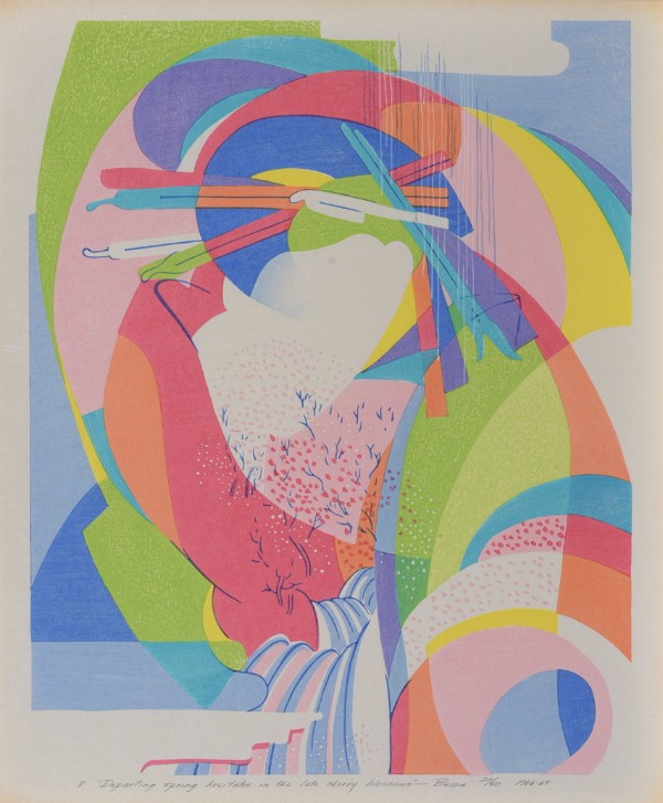 Stanton Macdonald-Wright, Haiga Portfolio, Departing Spring Hesitates in the late cherry blossoms