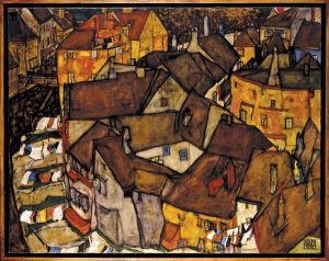 Egon Schiele, Krumau  Crescent of Houses (The Small City V)