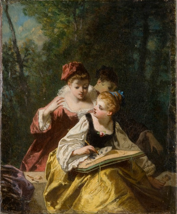 Jean Raoux, Young Girls Painting Outdoors