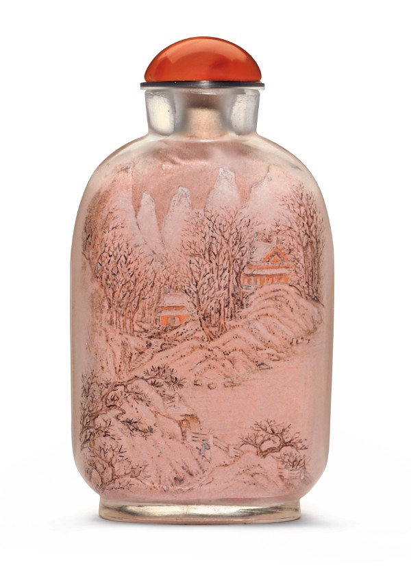Inside-painted glass snuff bottle, signed Ma Shaoxuan