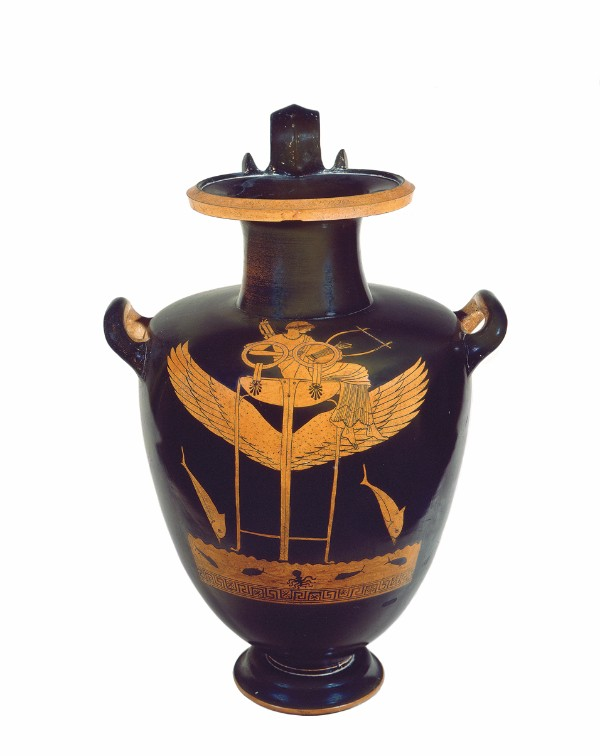 Greek, Attic, attributed to the Berlin Painter, Red- figure hydria of black- figure shape
