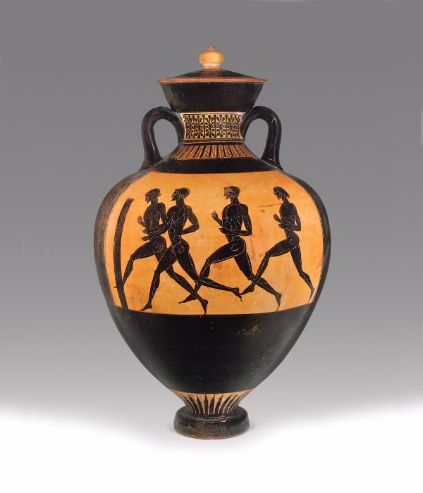 Greek, Attic, attributed to the Berlin Painter, Black- figure Panathenaic prize amphora