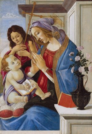 Sandro Botticelli, Virgin and Child with Saint John the Baptist