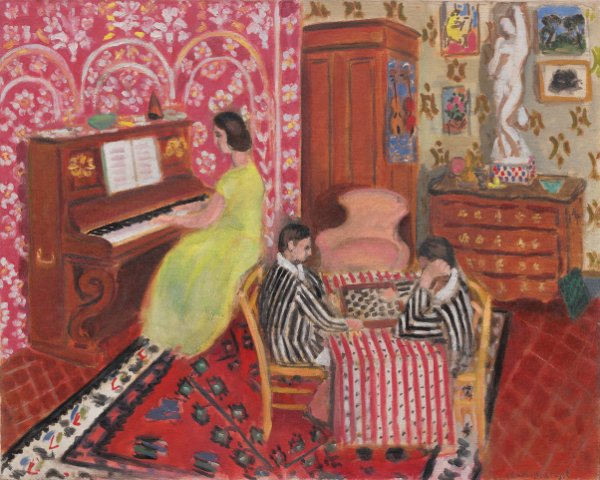 Henri Matisse, Pianist and Checker Players