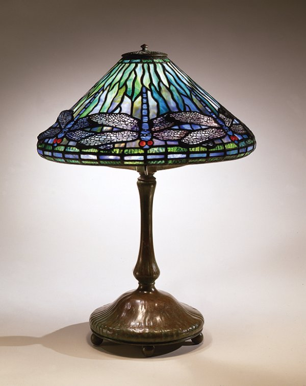 Dragonfly Reading Lamp, circa 1899