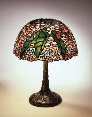 Begonia Reading Lamp, circa 1905