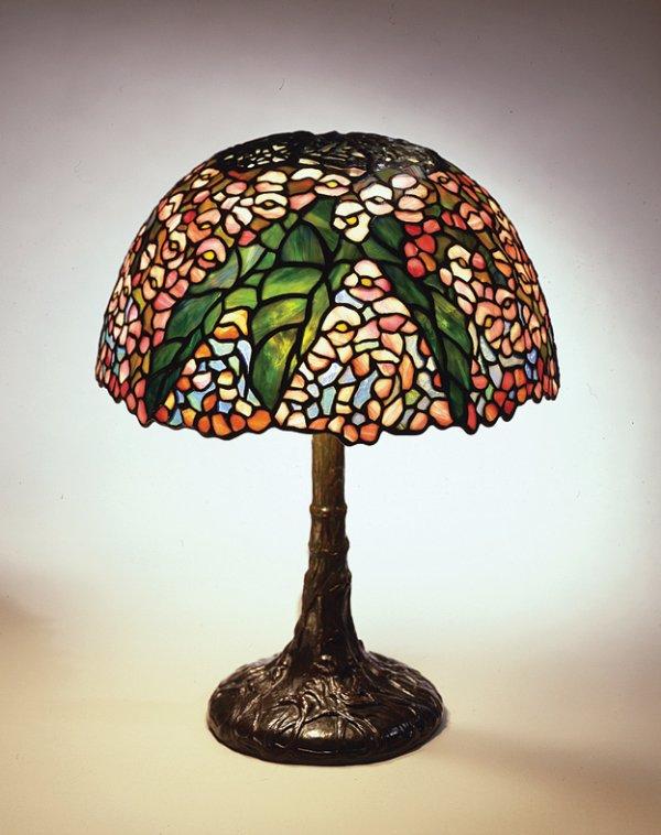 Begonia Reading Lamp, circa 1905