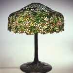 Apple Blossom Library Lamp, circa 1905