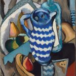 John D. Graham, Still Life with Fruit and Blue and White Pitcher, 1926