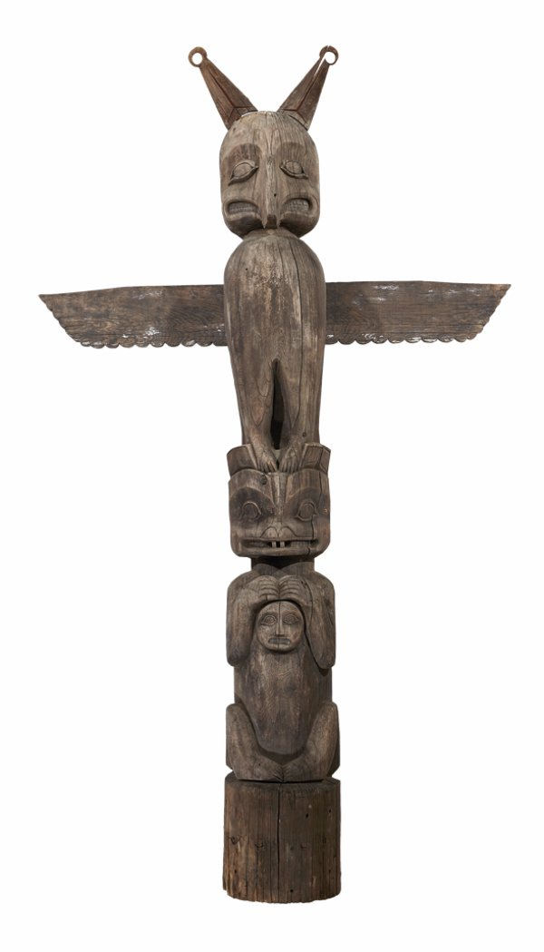 Historic Kwakiutl totem pole