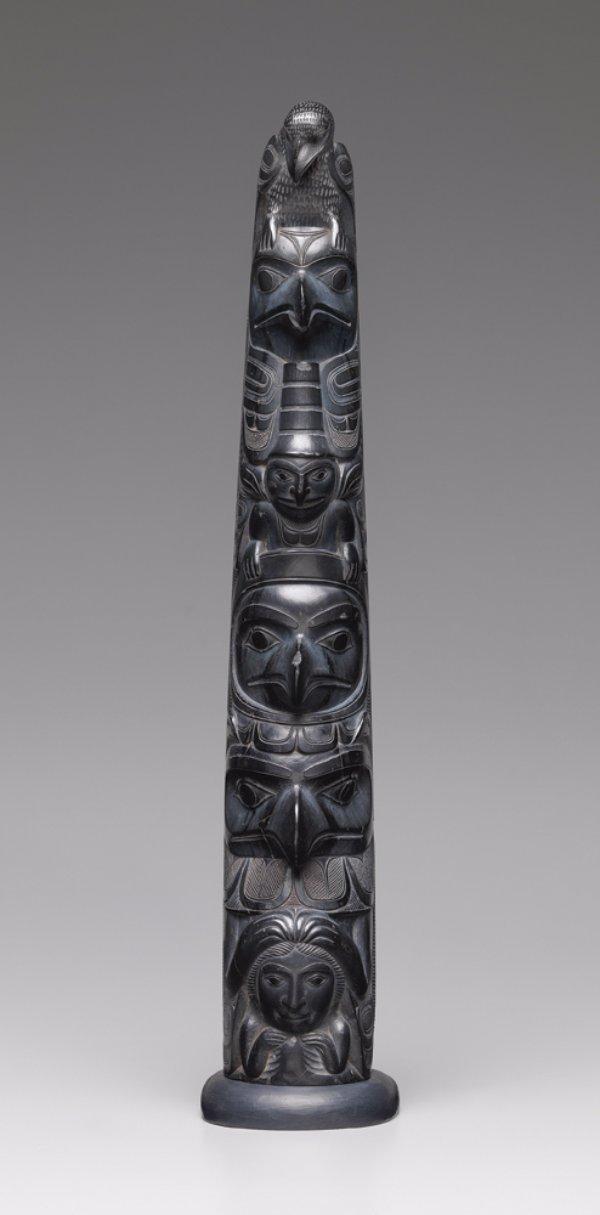 Charles Edenshaw (Haida), model totem pole