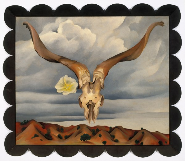 Georgia O'Keeffe, Ram's Head, White Hollyhock—Hills