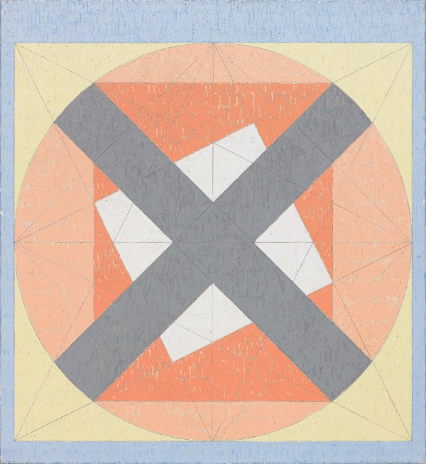 Jack Tworkov, X on Circle in the Square (Q4-81 #2)