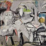Jack Tworkov, Abstract Figure at a Table
