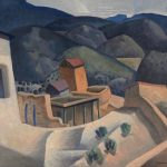 Raymond Jonson, Untitled (New Mexico Vista), 1925