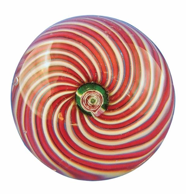 Clichy Pink Swirl paperweight