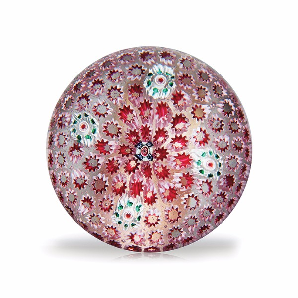 New England Glass Company carpet ground paperweight
