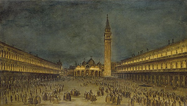 Francesco Guardi, The Nocturnal Good Friday Procession in Piazza San Marco