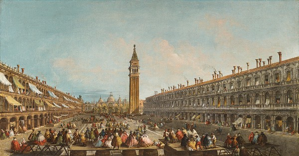 Michele Marieschi, Doge Pietro Grimani Carried into Piazza San Marco after his Election, 1741
