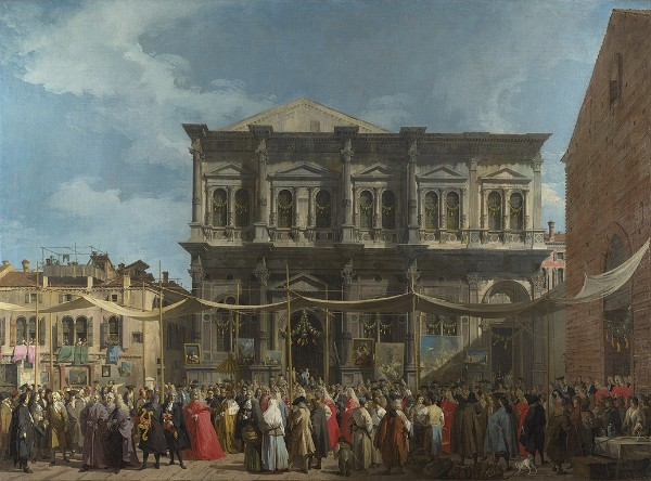 Canaletto, Venice: Feast Day of Saint Roch, about 1735