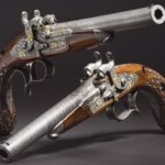 a pair of deluxe cased percussion pistols for two shots, Anton Vincent Lebeda, Prague, circa 1850
