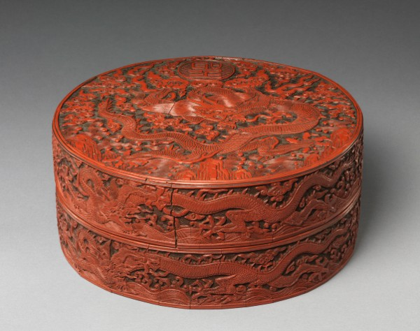 Box with Dragon Design