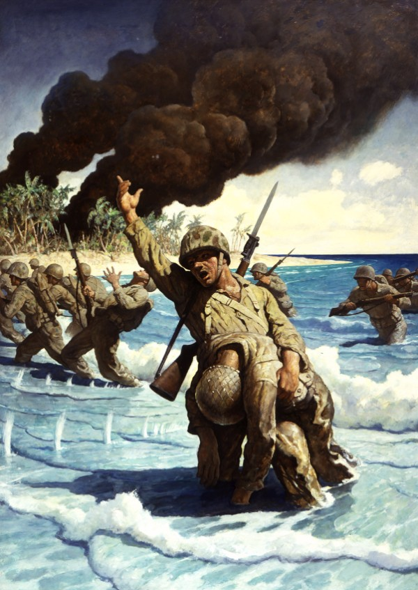 N.C. Wyeth, Marines Landing on the Beach