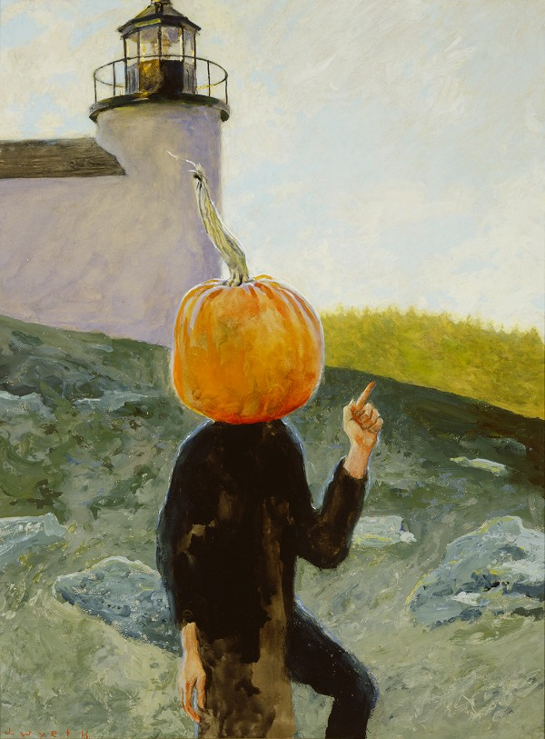 Jamie Wyeth, Pumpkinhead Visits the Lighthouse
