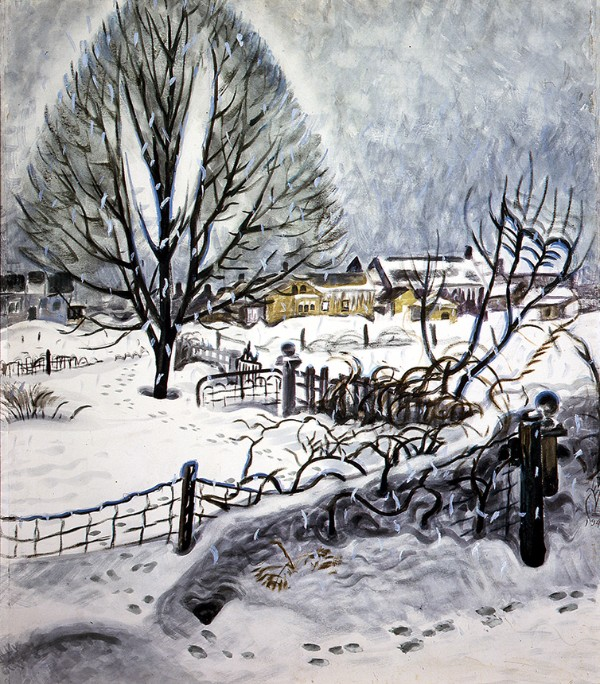 Charles E. Burchfield, Day in Midwinter,