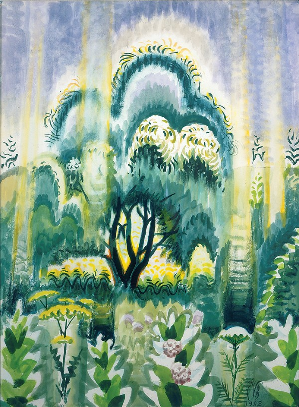 Charles E. Burchfield, July Sunlight Pouring Down