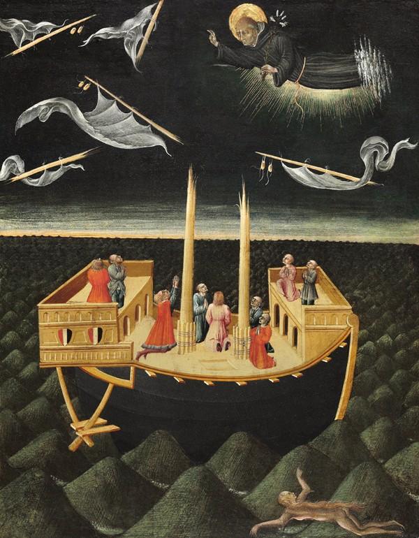 Giovanni di Paolo, Saint Nicholas of Tolentino Saving a Shipwreck