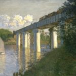 Claude Monet, Railroad Bridge, Argenteuil, 1874