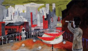 Rufino Tamayo, New York seen from the Terrace