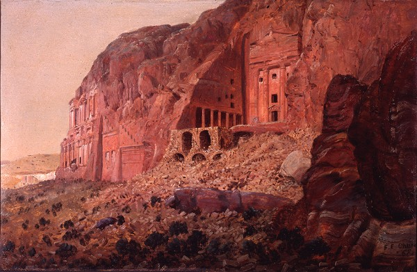 rederic Church, The Urn Tomb, Silk Tomb and Corinthian Tomb, Petra
