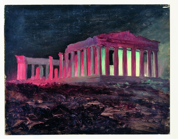 Frederic Church, Parthenon at Night, Athens