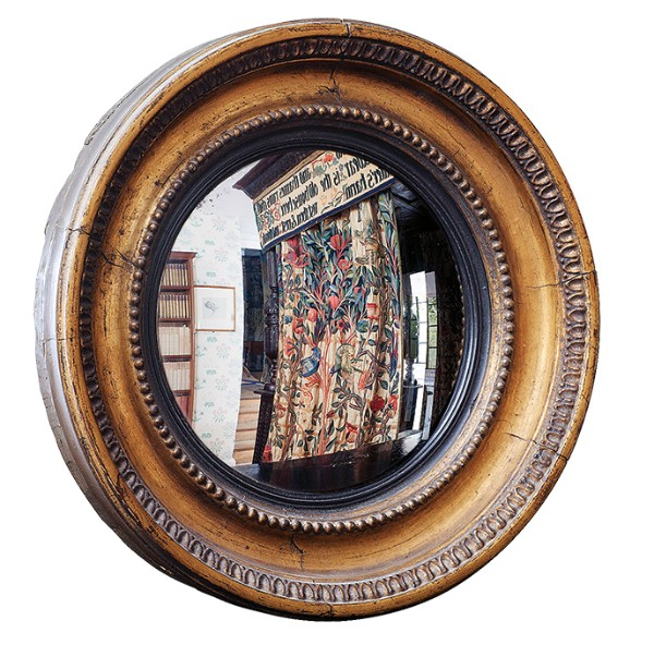 Convex mirror owned by Dante Gabriel Rossetti