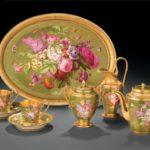 "Sèvres Imperial Manufactory, Tea service called ""green ground, groups of flowers,"""