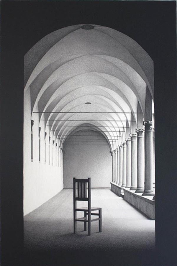 Keisuke Yamamoto, A Cloister, 2013, lithograph