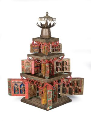 Portable Shrine (Tashi Gomang) of Padmasambhava's Palace on the Copper-Colored Mountain