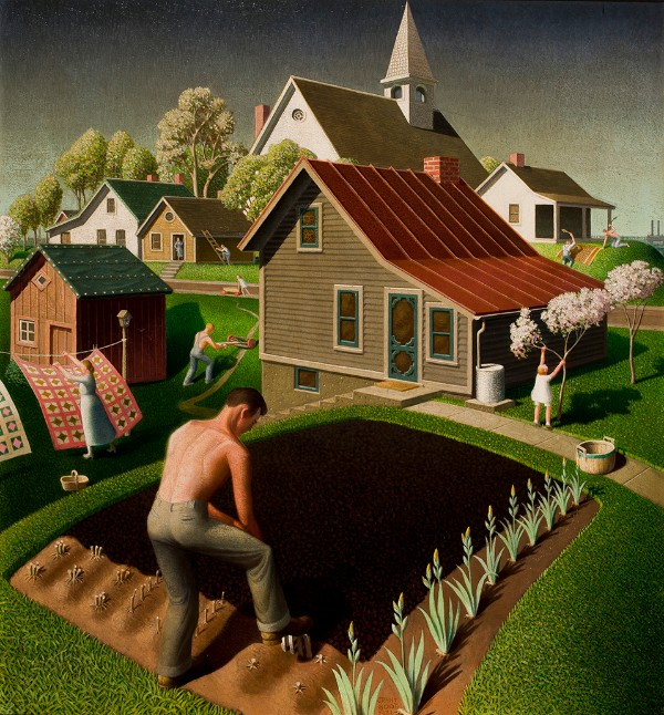 Grant Wood, Spring in Town, 1941