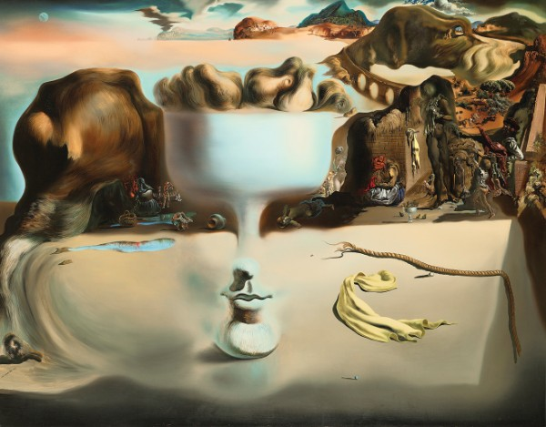 Salvador Dalí, Apparition of Face and Fruit Dish on a Beach, 1938