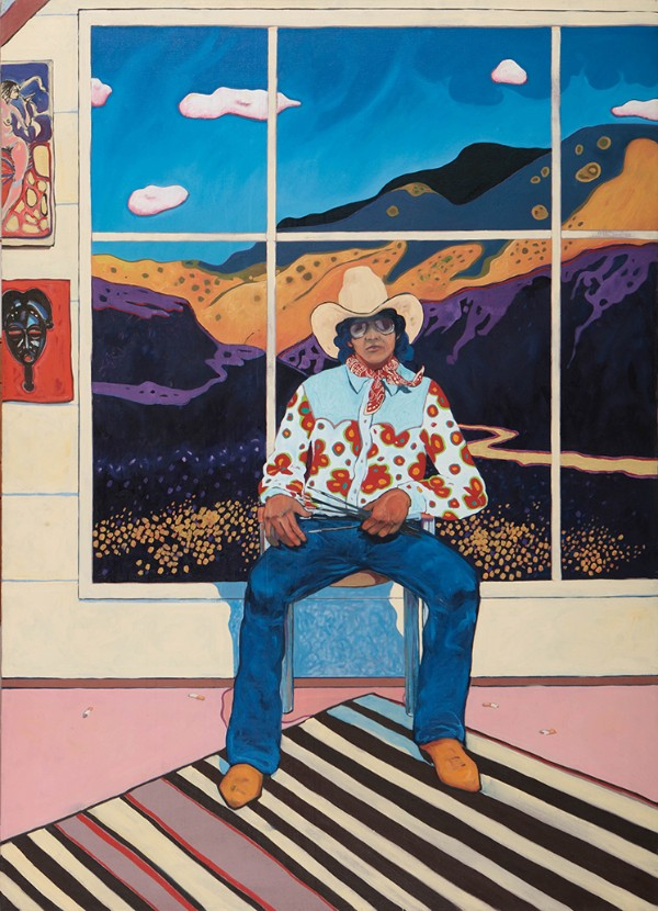 T. C. Cannon, Self-Portrait in the Studio, 1975