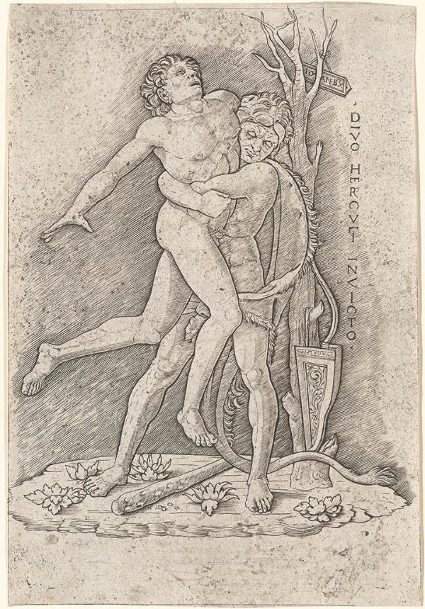 Giovanni Antonio da Brescia, Hercules and Antaeus, circa 1490–1500