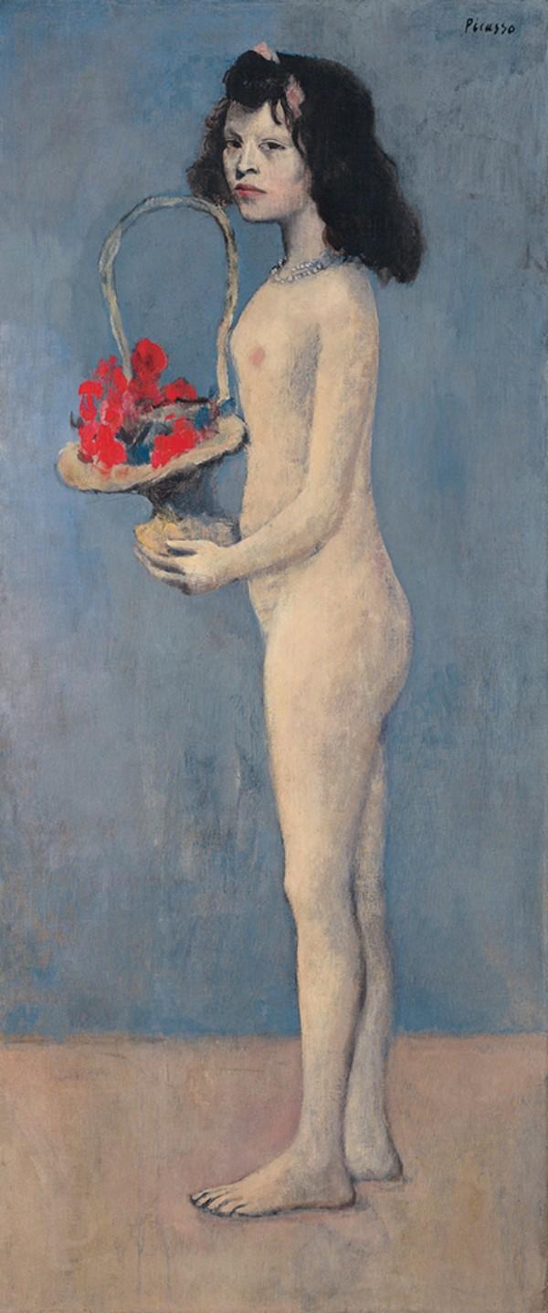 Pablo Picasso, Fillette á la corbeille fleurie, 1905