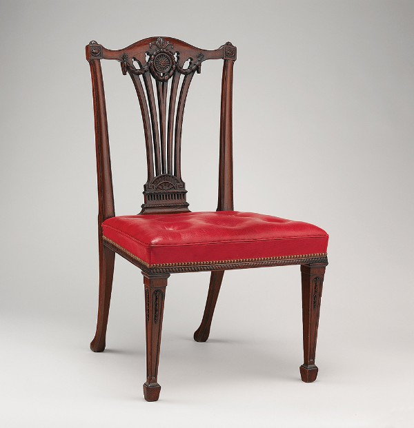 Workshop of Thomas Chippendale, Side chair (from a set of fourteen), London, England, circa 1772