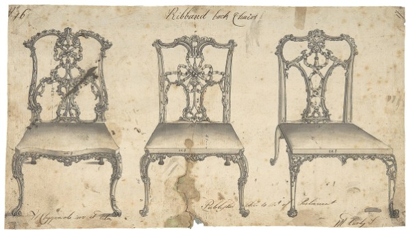 Thomas Chippendale, Ribband Back Chairs, 1754